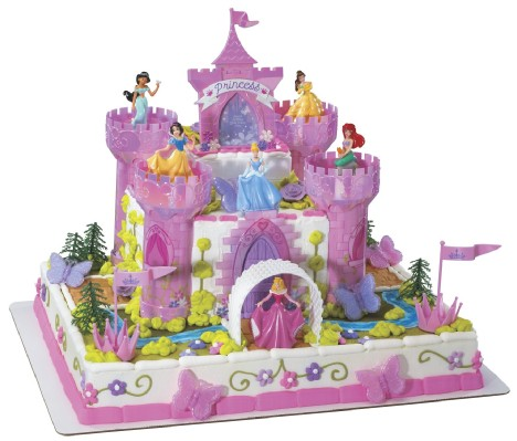 Disney Cake Decor : Disney Princess Deluxe Castle Cake Decorating Kit