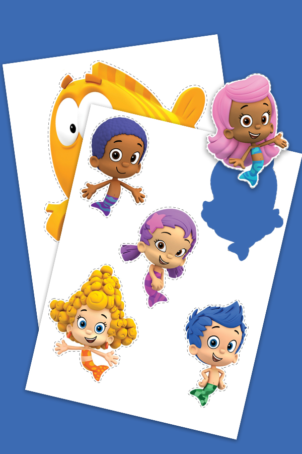 photograph about Bubble Guppies Printable titled Bubble Guppies Puppet Playtime Past The Backpack