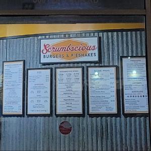 Scrumbscious Burgers & Pieshakes logo