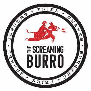 Screaming Burro Burgers + Fries + Shakes logo