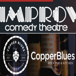 Improv Comedy Club & Copper Blues logo