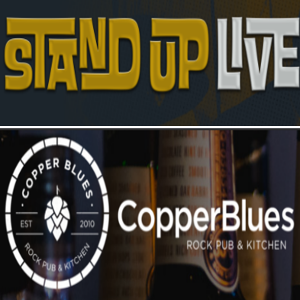 Stand Up Live & Copper blues logo
