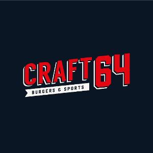 Craft 64 Burgers & Sports logo
