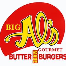 Big Al's Gourmet Butter Made Burgers logo
