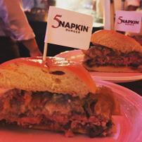 5 Napkin Burger logo