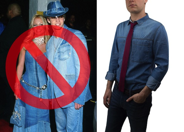 Denim on denim doesn't mean Canadian tuxedo