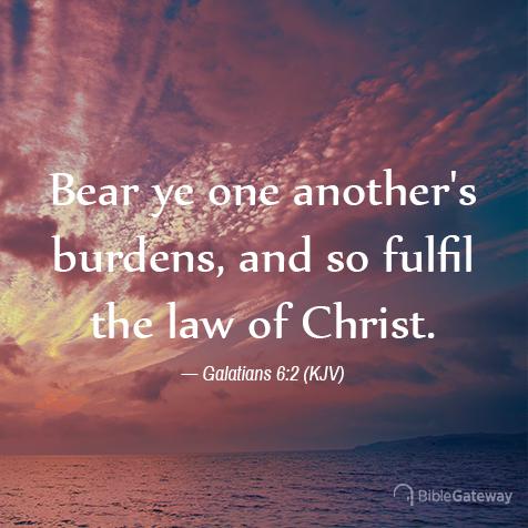 Galatians 6:2 (10/18/2470) - KJV Visual Verse of the Day