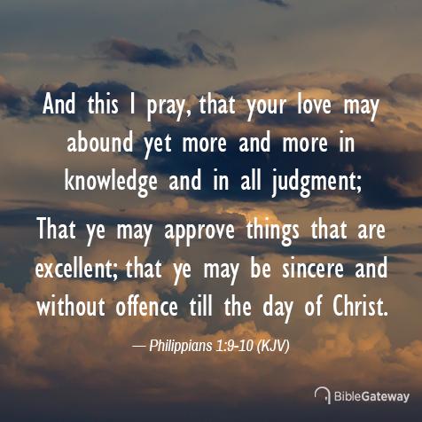 Philippians 1:9-10 (11/8/2497) - KJV Visual Verse of the Day