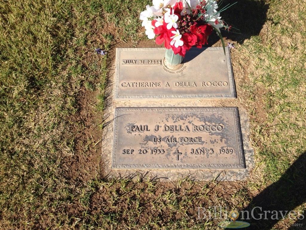 grave site of paul j della rocco 1933 1989 billiongraves headstone image of paul j della rocco