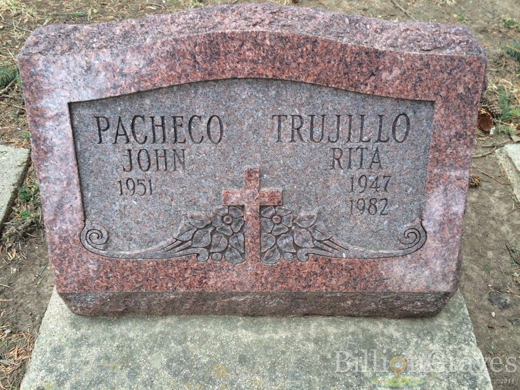 grave site of john pacheco billiongraves headstone image of john pacheco
