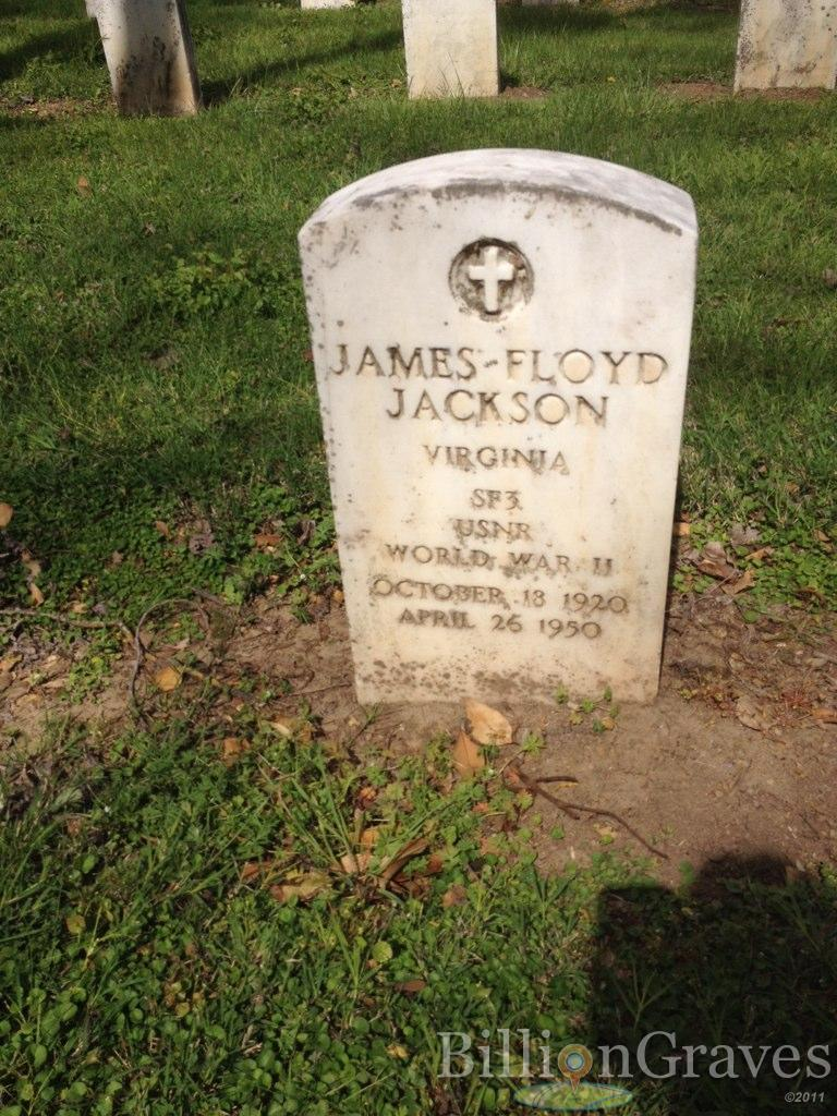 grave site of james floyd jackson 1920 1950 billiongraves headstone image of james floyd jackson
