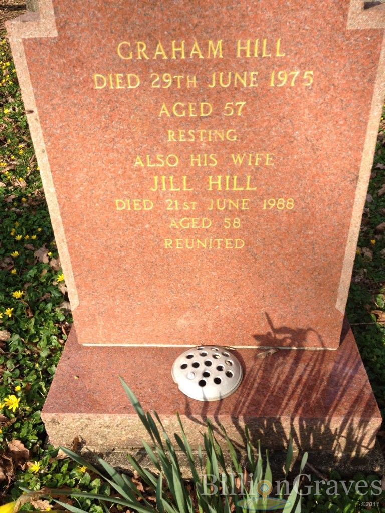Grave Site of Graham Hill (-1975) | BillionGraves