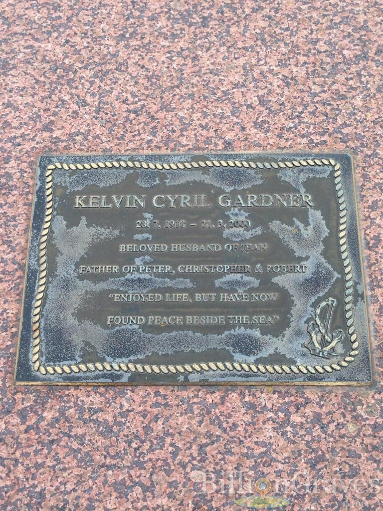 Grave Site Of Kelvin Cyril Gardner 1918 2000 Billiongraves