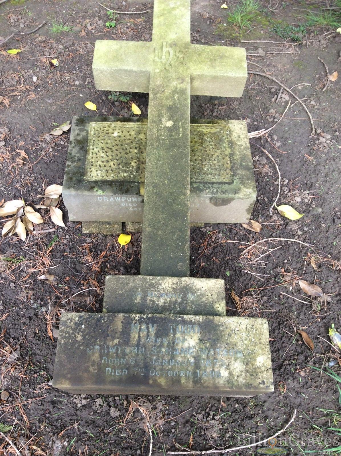 Grave site of crawford strang watson 1933 billiongraves headstone image of crawford strang watson buycottarizona