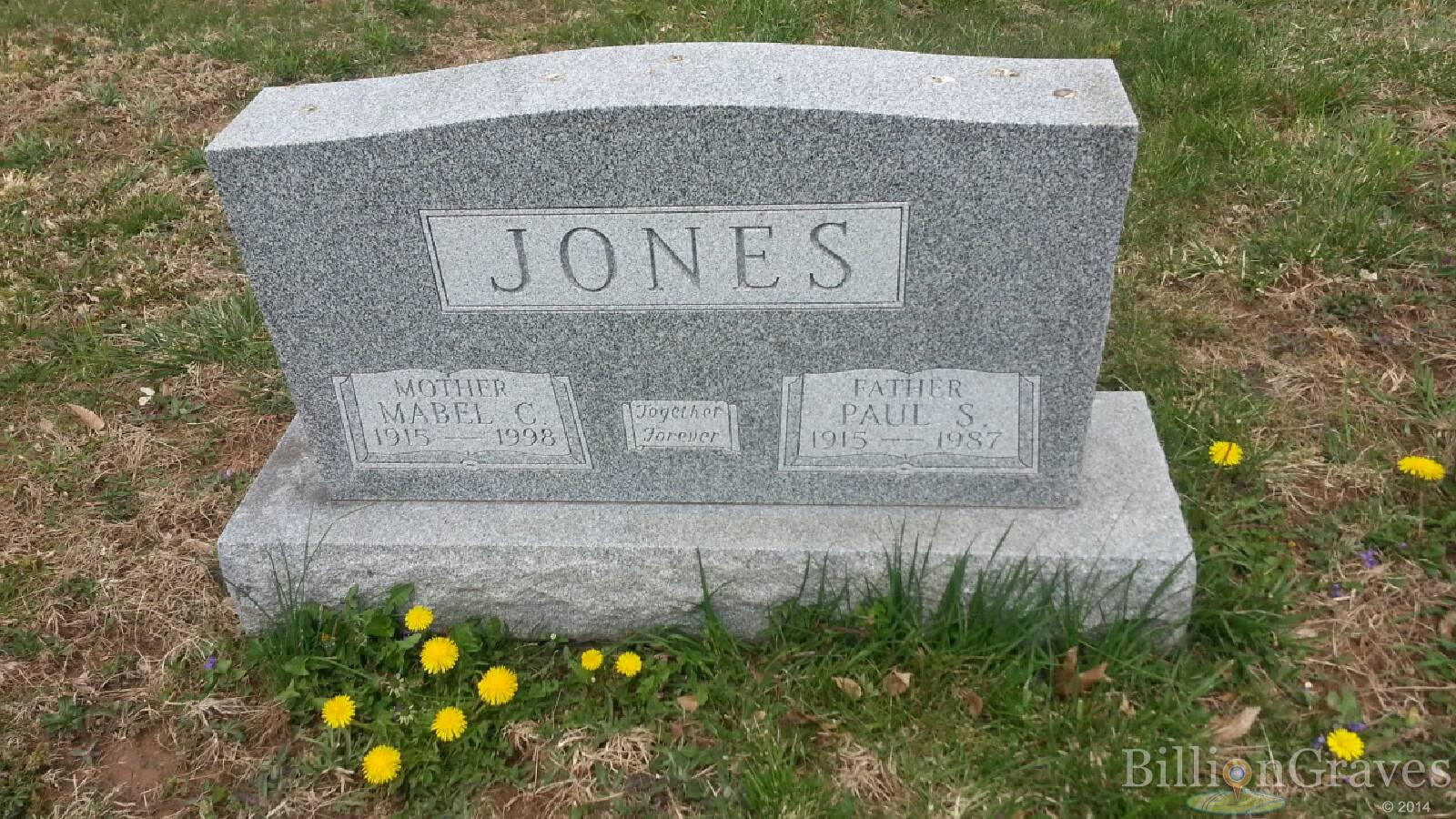 grave site of father paul s jones billiongraves headstone image of father paul s jones