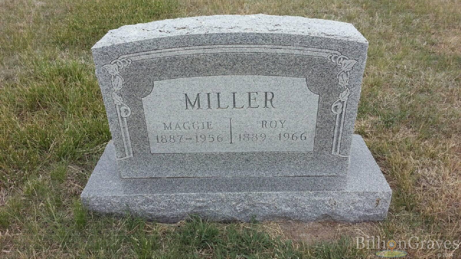 grave site of maggie miller 1887 1956 billiongraves headstone image of maggie miller