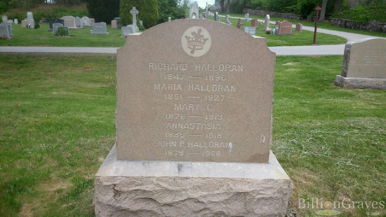 grave site of richard halloran billiongraves headstone image of richard halloran