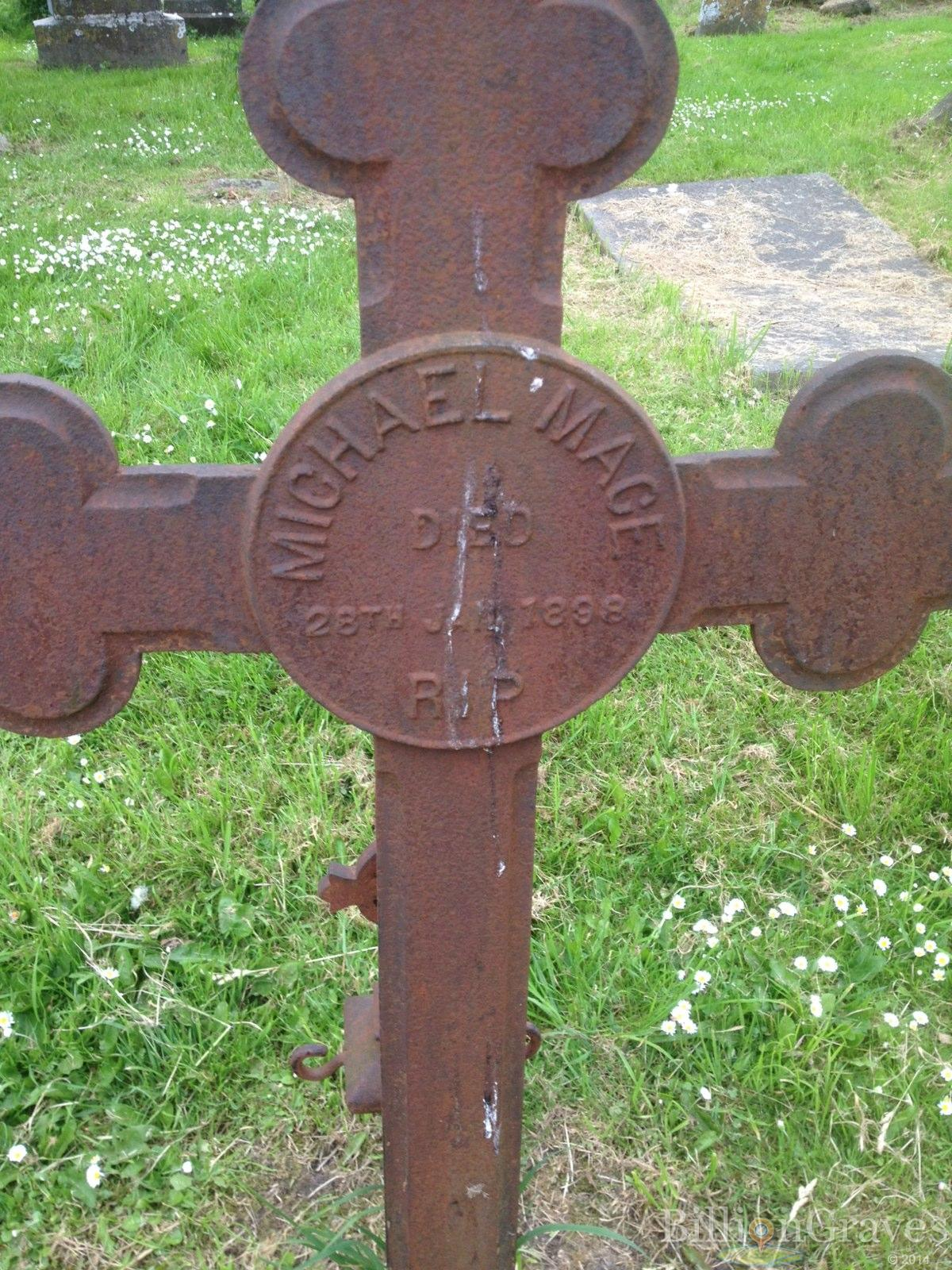grave site of michael mace 1898 billiongraves headstone image of michael mace