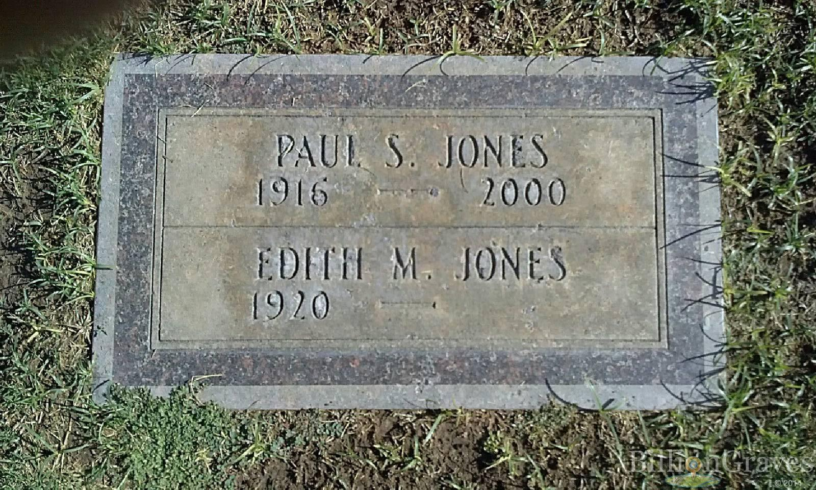 grave site of paul s jones billiongraves headstone image of paul s jones