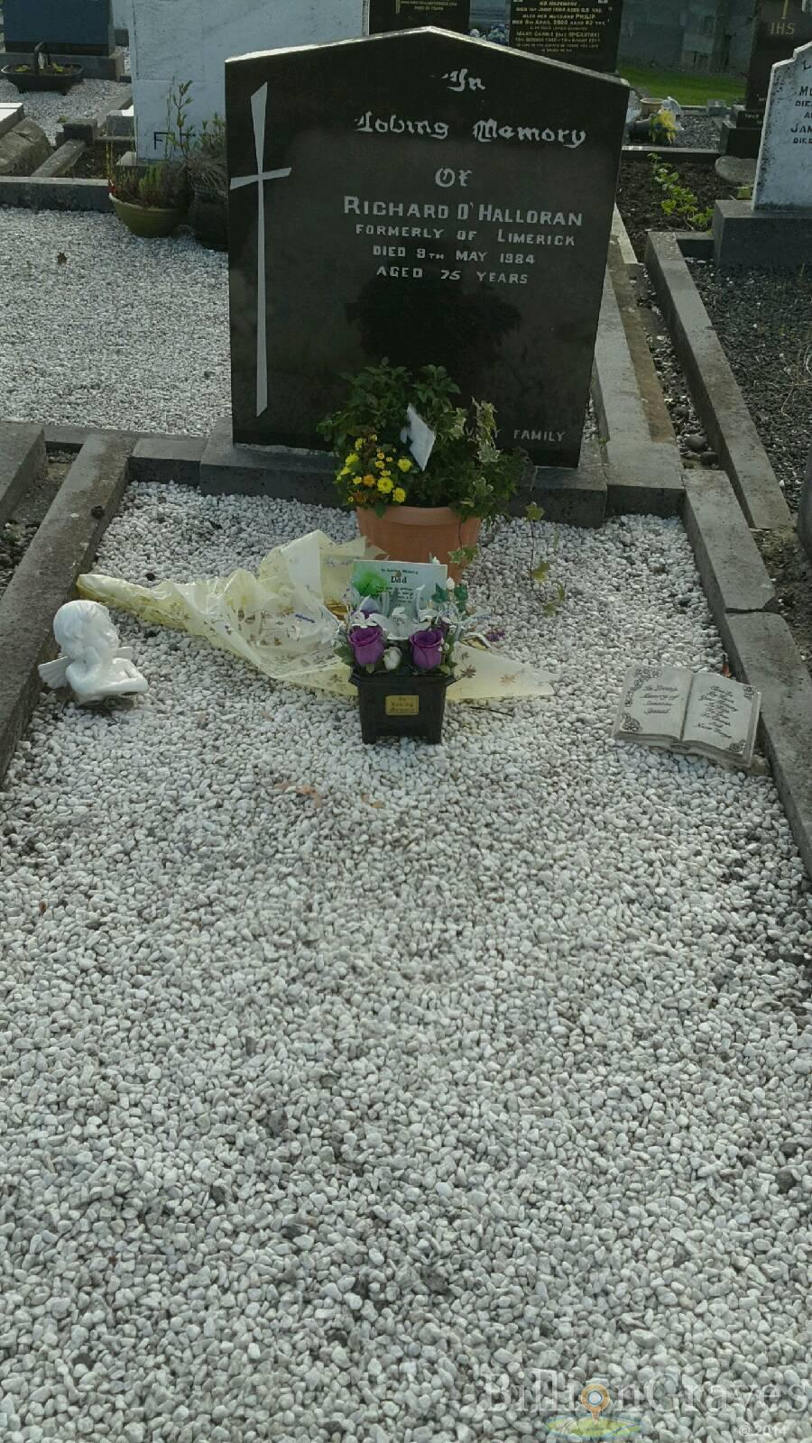 grave site of richard o halloran 1984 billiongraves headstone image of richard o halloran