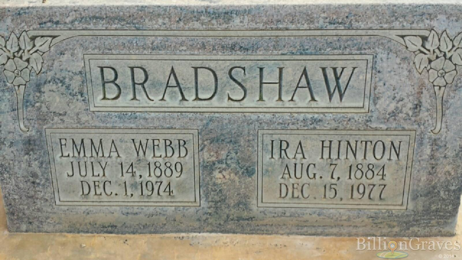 grave site of emma bradshaw webb billiongraves headstone image of emma bradshaw webb