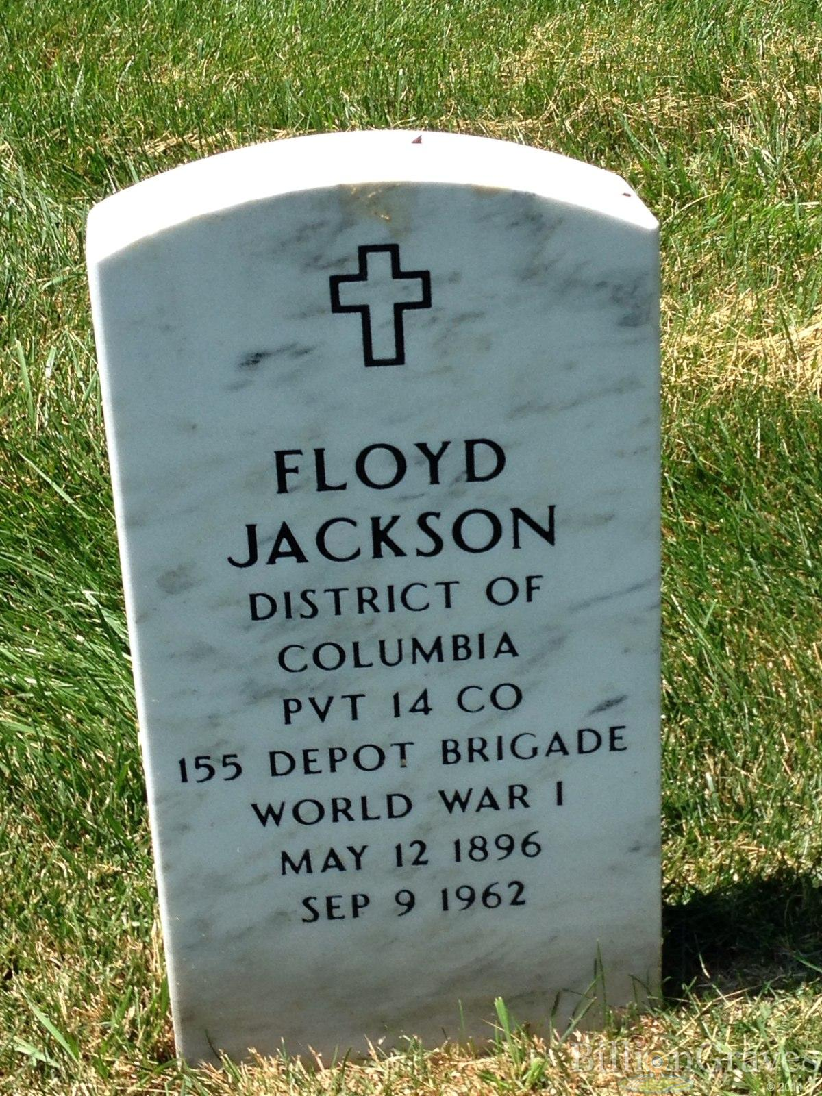 grave site of floyd jackson 1896 1962 billiongraves headstone image of floyd jackson