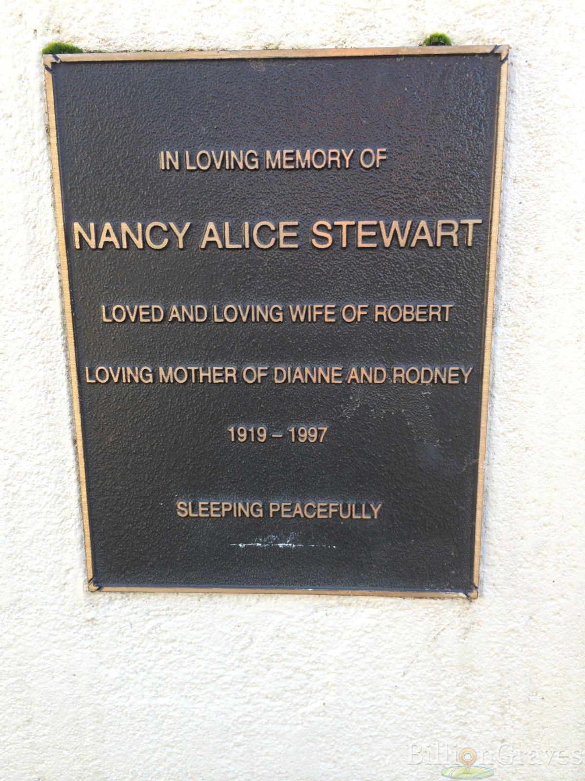 grave site of rodney stewart billiongraves headstone image of rodney stewart