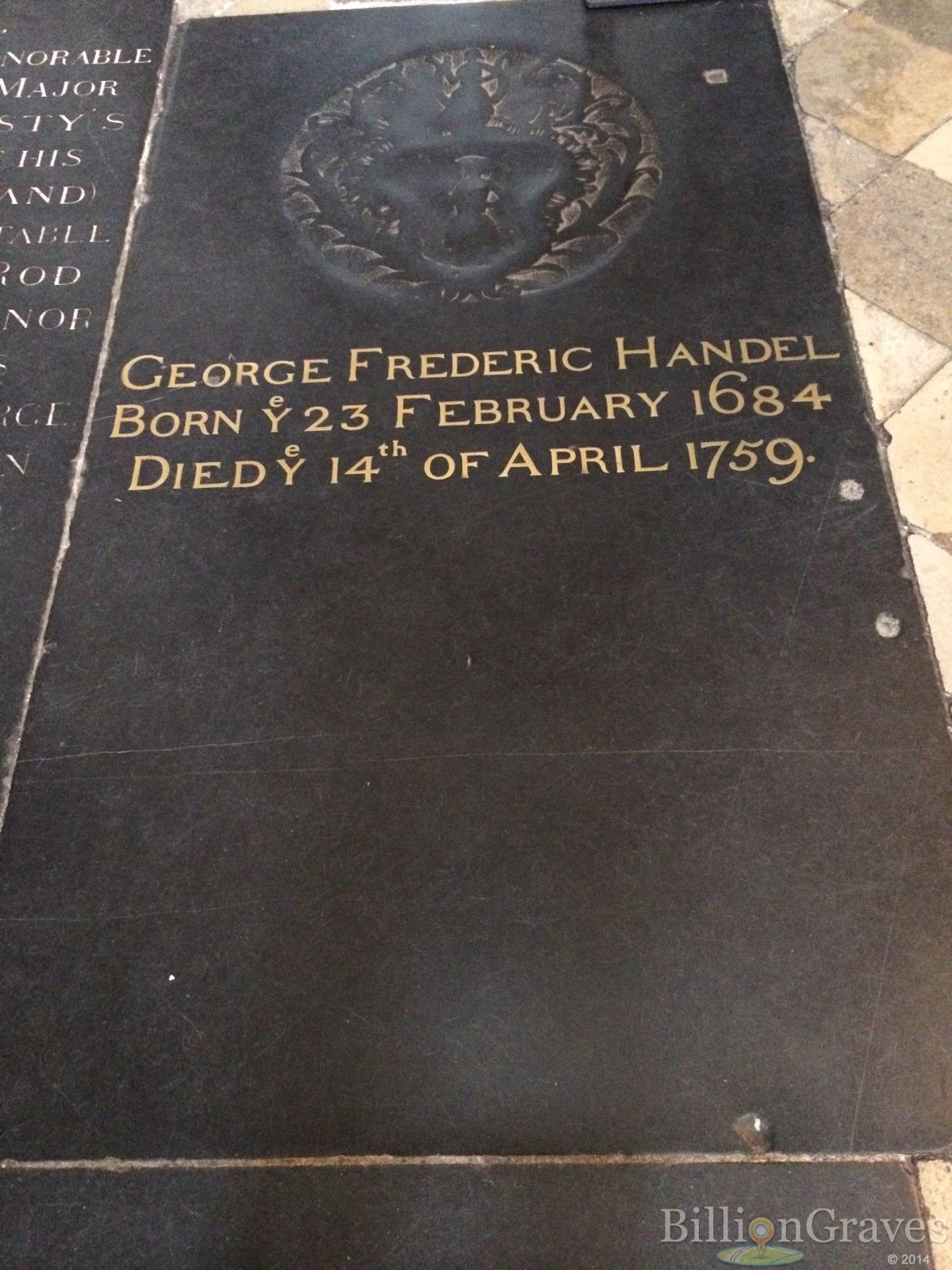 Grave Site of George Frederic Handel (1684-1759 ...