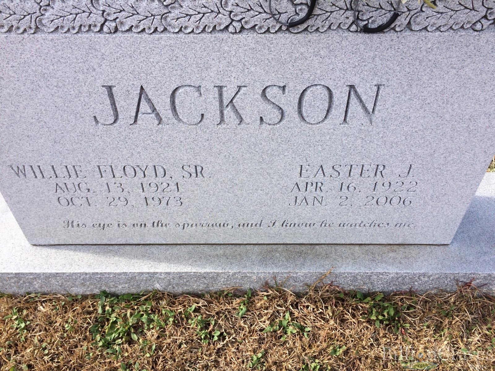 grave site of willie floyd jackson sr 1921 1973 billiongraves headstone image of willie floyd jackson sr