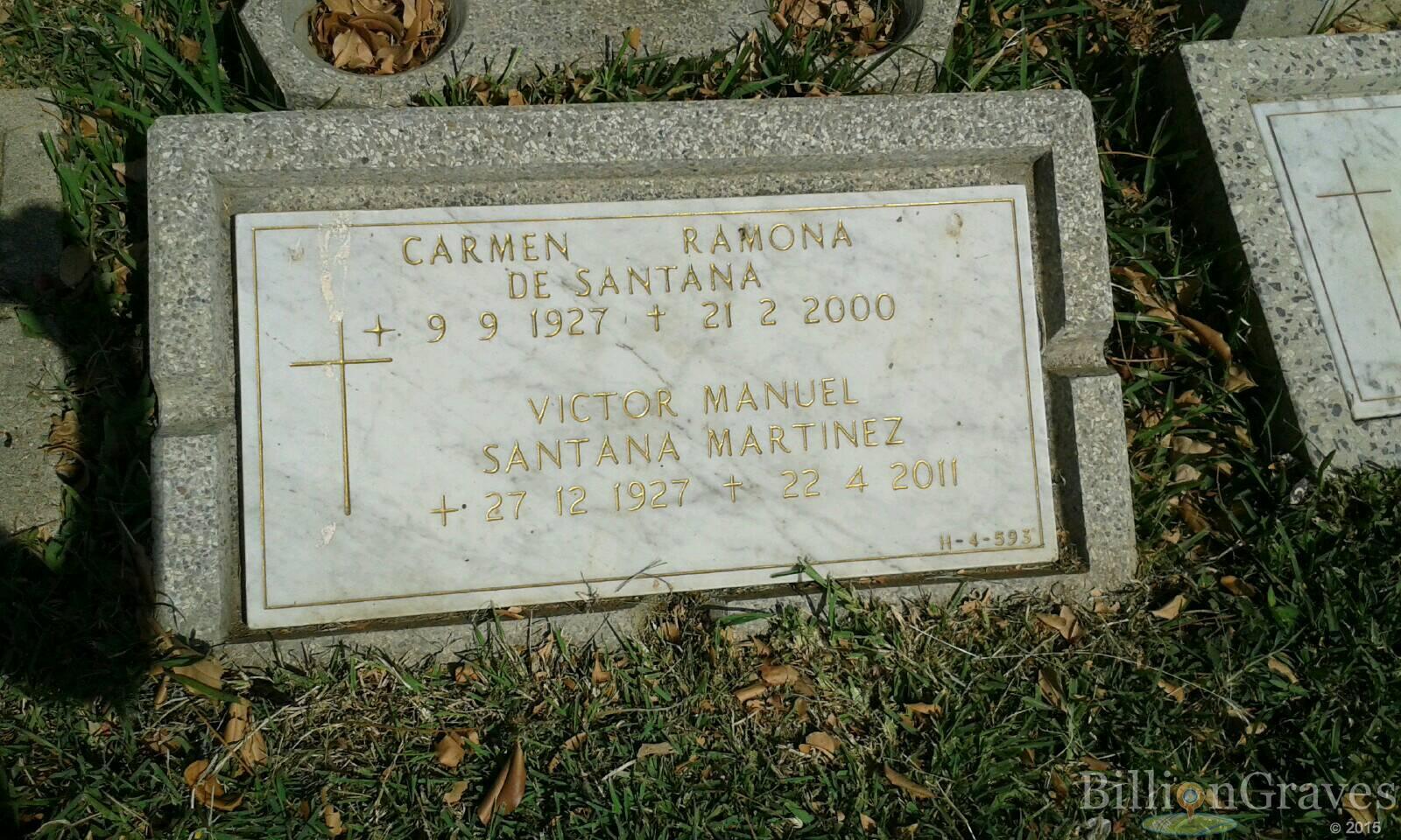 Victor Manuel Santana Martinez 1927 2011 Grave Site