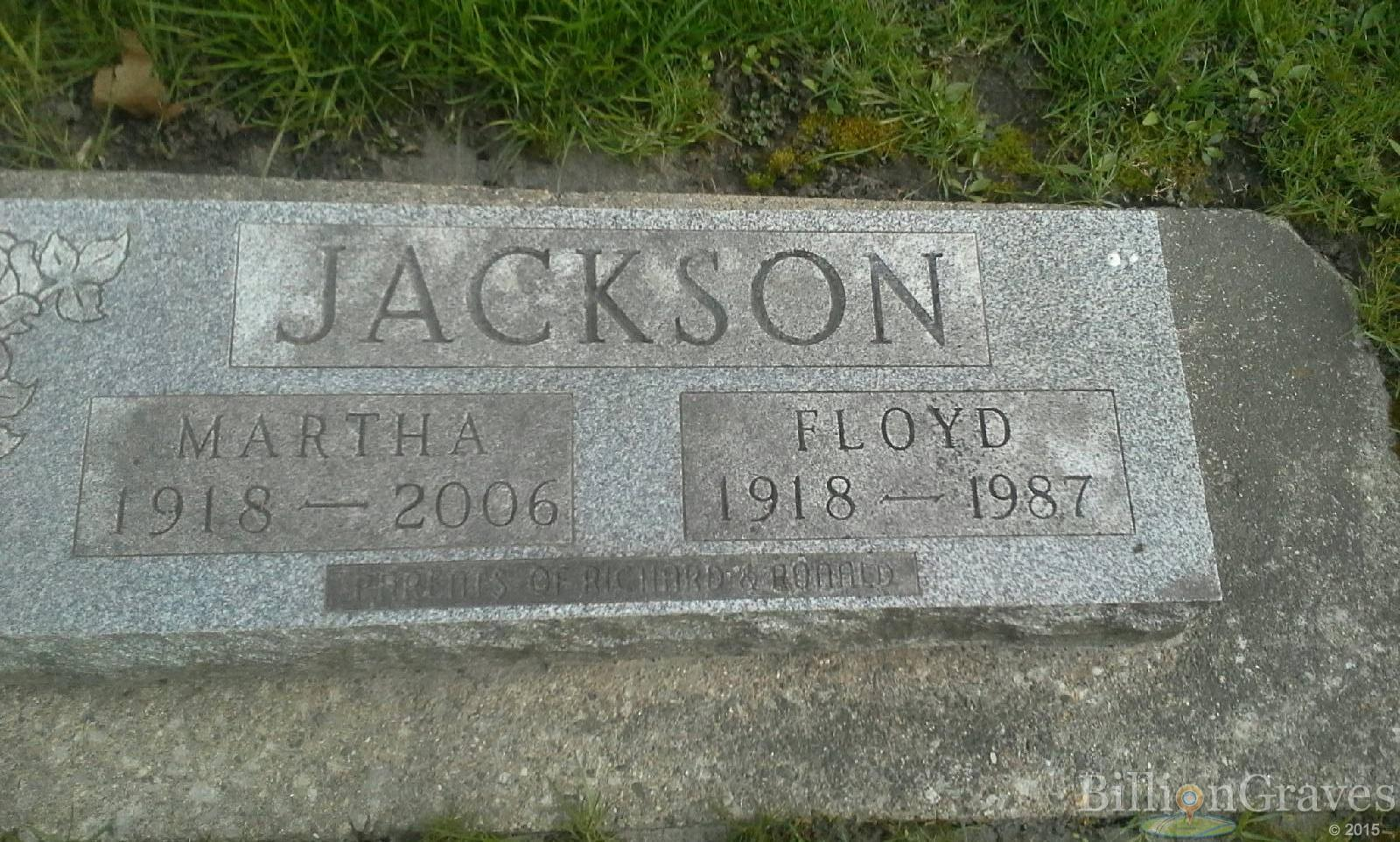 grave site of floyd jackson 1918 1987 billiongraves headstone image of floyd jackson