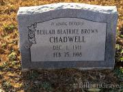 Beulah Beatrice Chadwell (born Brown)