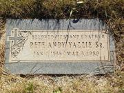 Peter Andy Yazzie, Sr.
