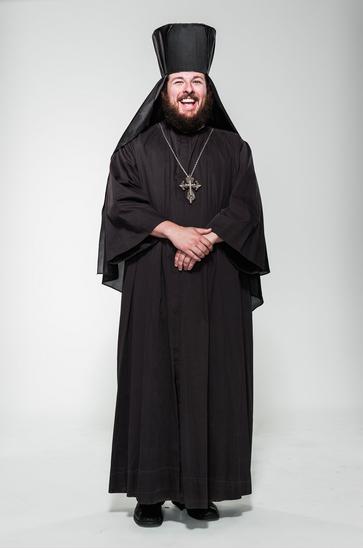 Jared Brock in Orthodox attire