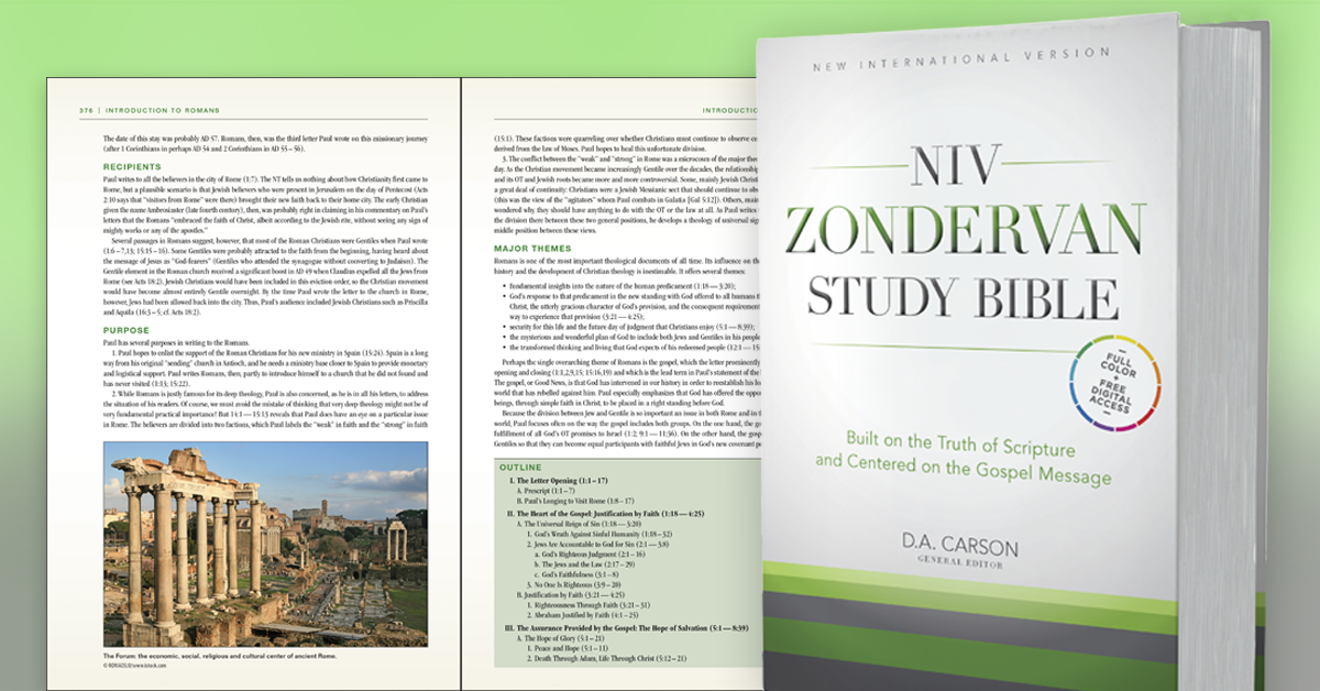 NIV Zondervan Study Bible, Hardcover: Built on the Truth ...