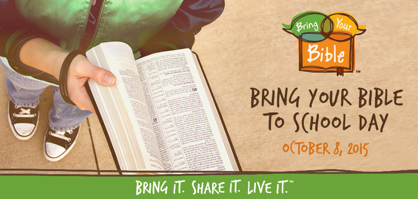 Bring Your Bible to School Day: Guest Post by Carl Moeller - Bible