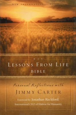 Click to buy your copy of NIV Lessons from Life Bible: Personal Reflections with Jimmy Carter in the Bible Gateway Store