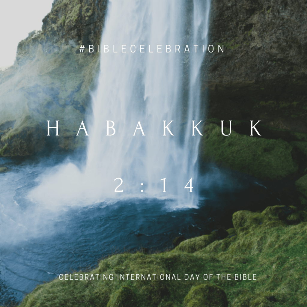 Click to read the International Day of the Bible theme verse from Habakuk in multiple English versions