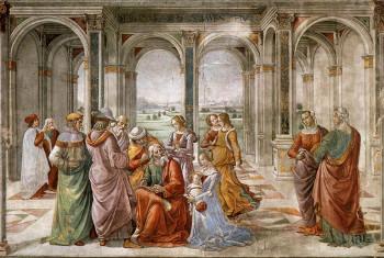 Zechariah records the name of his son, John the Baptist