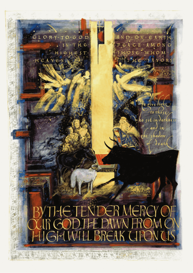 The Gospel of Luke Frontispiece: The Birth of Christ. Artist: Donald Jackson. The Saint John's Bible, 2002