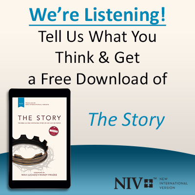 Click to take this Zondervan survey about the NIV Bible translation