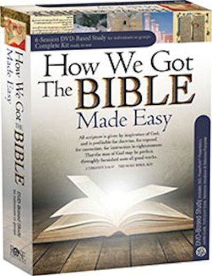 Buy your copy of How We Got the Bible Made Easy—DVD Curriculum in the Bible Gateway Store