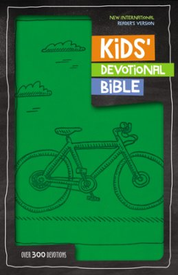 Buy your copy of the NIrV Kids Devotional Bible, Green Bicycle in the Bible Gateway Store