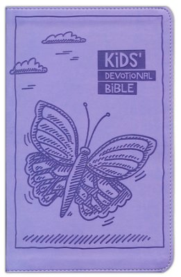 Buy your copy of the Kids Devotional Bible, Lavender Butterfly in the Bible Gateway Store