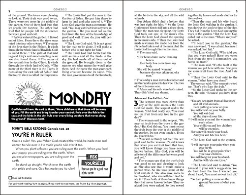 Page sample of the NIrV Kids Devotional Bible