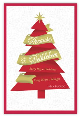Buy your copy of Because of Bethlehem Christmas Cards in the Bible Gateway Store where it's always on sale