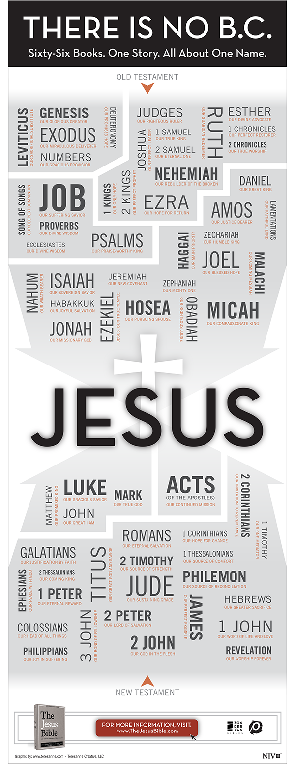 Click to see The Jesus Bible Infographic in PDF