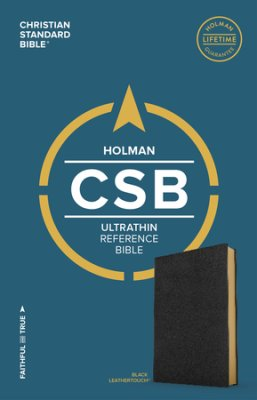 Buy your copy of the CSB Ultrathin Reference Bible, Black LeatherTouch in the Bible Gateway Store where you'll enjoy low prices every day