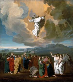 Jesus Ascending to Heaven illustration