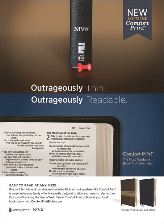 Select your next Bible with Comfort Print typeface in the Bible Gateway Store